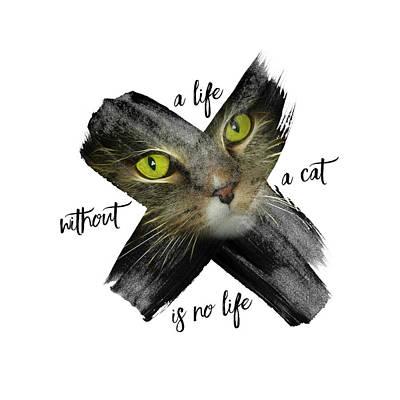 Graphic Art British Shorthair Cat Art Print by Melanie Viola