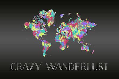 Digital Art - Graphic Art Crazy Wanderlust - Splashes by Melanie Viola