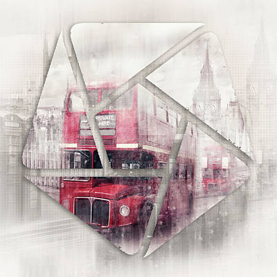 Abstract Sights Digital Art - Graphic Art London Westminster Collage by Melanie Viola