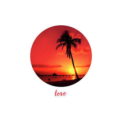 Graphic Art Love - Sunset Art Print by Melanie Viola