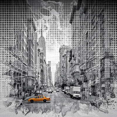 Photograph - Graphic Art New York City 5th Avenue by Melanie Viola