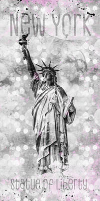 Photograph - Graphic Art New York City Statue Of Liberty by Melanie Viola
