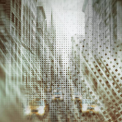Graphic Art Nyc 5th Avenue Traffic Iv Art Print by Melanie Viola