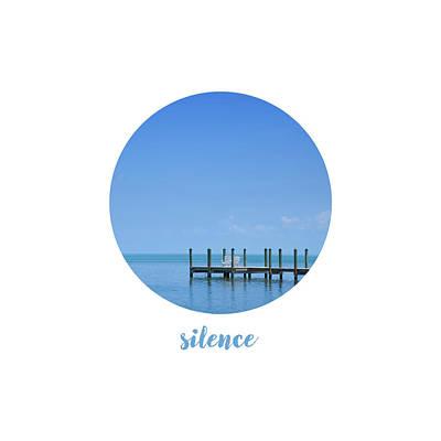 Breathe Photograph - Graphic Art Silence - Oceanview by Melanie Viola