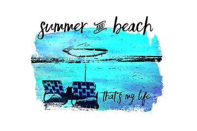 Abstract Beach Landscape Digital Art - Graphic Art Summer And Beach by Melanie Viola