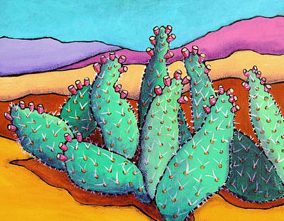 Wall Art - Painting - Graphic Cactus by Candy Mayer