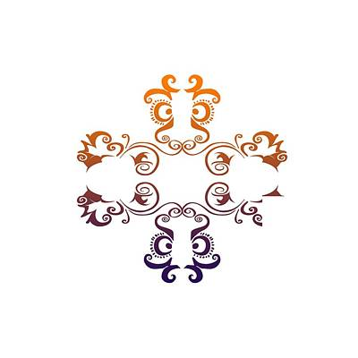 Digital Art - Graphic Cross by L L
