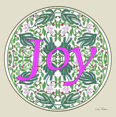 Digital Art - Graphic Designs Button Joy by Lise Winne