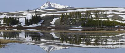 Photograph - Graphic Mountain Reflection by Nadalyn Larsen