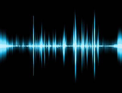 Trembling Digital Art - Graphic Of A Digital Sound On Black Bottom by Mary Anderson
