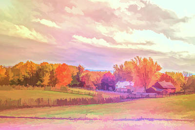 Photograph - Graphic Rainbow Autumn Farm by Aimee L Maher ALM GALLERY