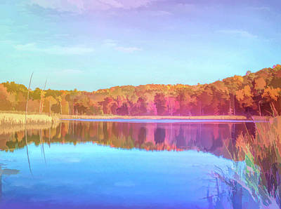 Photograph - Graphic Rainbow Autumn Pond by Aimee L Maher Photography and Art Visit ALMGallerydotcom