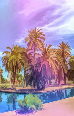 Photograph - Graphic Rainbow Blue Lagoon Encanto Park by Aimee L Maher Photography and Art Visit ALMGallerydotcom