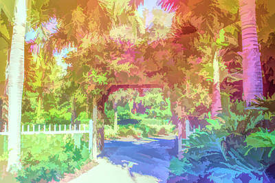 Photograph - Graphic Rainbow Garden Walkway by Aimee L Maher Photography and Art Visit ALMGallerydotcom