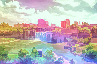 Photograph - Graphic Rainbow High Falls by Aimee L Maher Photography and Art Visit ALMGallerydotcom