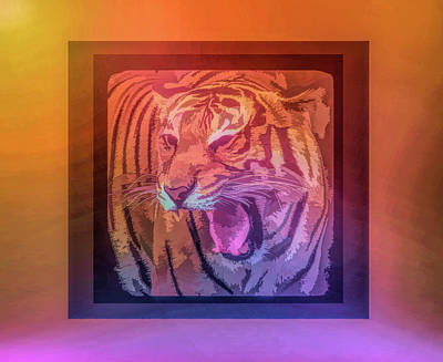 Photograph - Graphic Rainbow Portrait Of A Tiger by Aimee L Maher Photography and Art Visit ALMGallerydotcom