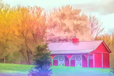 Photograph - Graphic Rainbow Red Barn by Aimee L Maher Photography and Art Visit ALMGallerydotcom
