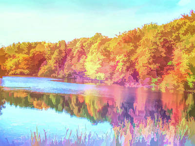 Photograph - Graphic Rainbow Reflecting Trees by Aimee L Maher Photography and Art Visit ALMGallerydotcom