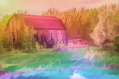 Photograph - Graphic Rainbow Rustic Barn by Aimee L Maher Photography and Art Visit ALMGallerydotcom