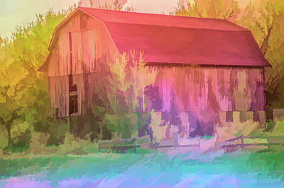 Photograph - Graphic Rainbow Rustic Barn Close Up by Aimee L Maher ALM GALLERY