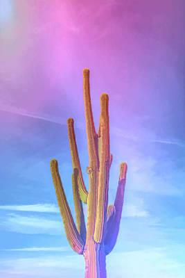 Photograph - Graphic Rainbow Saguaro Cactus by Aimee L Maher Photography and Art Visit ALMGallerydotcom
