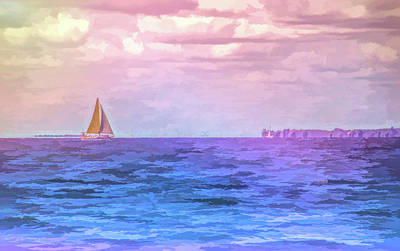 Photograph - Graphic Rainbow Saling The Blue by Aimee L Maher Photography and Art Visit ALMGallerydotcom