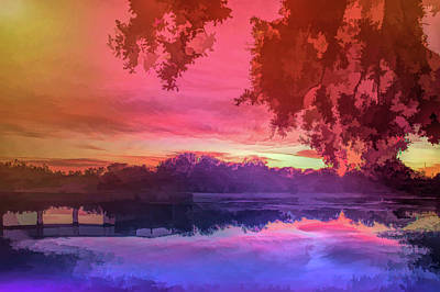 Photograph - Graphic Rainbow Serenity Sunset by Aimee L Maher ALM GALLERY