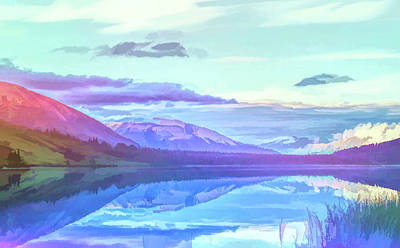 Photograph - Graphic Rainbow Summit Lake Alaska by Aimee L Maher Photography and Art Visit ALMGallerydotcom