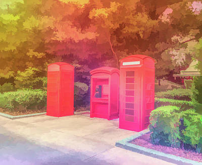 Photograph - Graphic Rainbow Telephone Booths by Aimee L Maher Photography and Art Visit ALMGallerydotcom