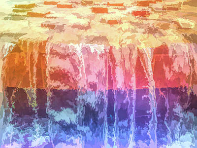 Graphic Rainbow Waterfall Art Print