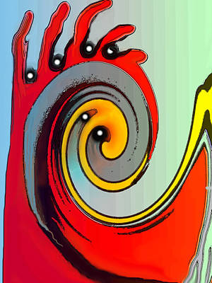 Digital Art - Grasping by Ian  MacDonald