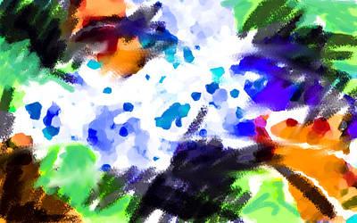 Postmodern Painting - Grasping The Rain by Paul Sutcliffe