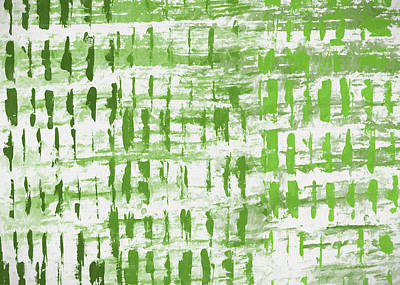 Painting - Grass Abstract Pattern by Dan Sproul