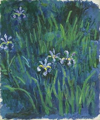 Monet Painting - Grass by Claude Monet