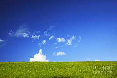 Grass Cloud Sky Art Print