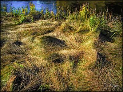 Digital Art - Grass Design, Digital Painting by Dave Higgins
