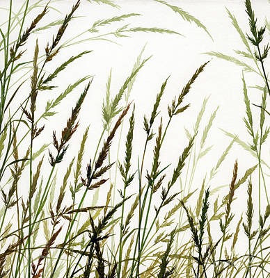 Art Print featuring the painting Grass Design by James Williamson