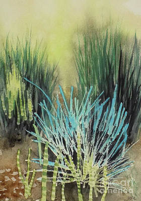 Painting - Grass In The Garden by Yoshiko Mishina