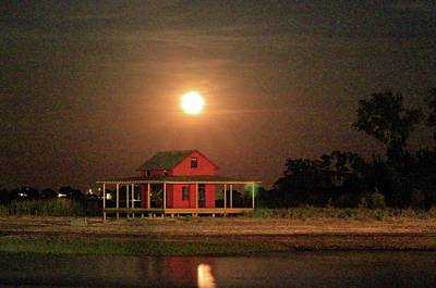 Photograph - Grass Island And A Full Moon by Catie Canetti