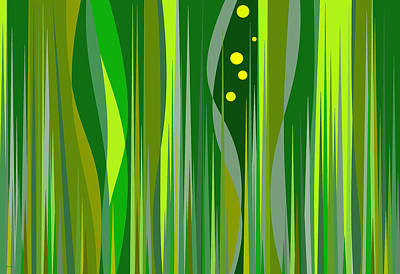 Digital Art - Grass by Val Arie