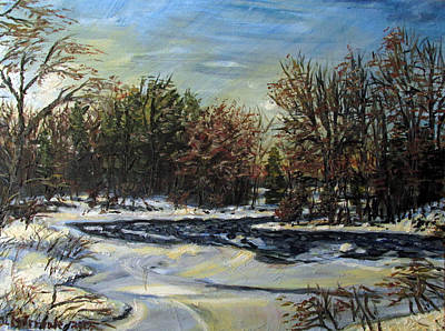 Grasse River In January Art Print by Denny Morreale