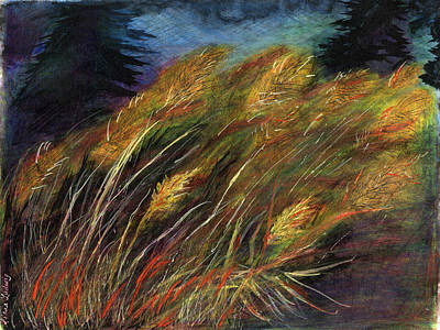 Grasses Art Print by Diana Ludwig