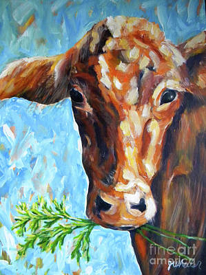 Painting - Grassfed by JoAnn Wheeler