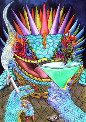 Martini Painting Rights Managed Images - Grasshopper Royalty-Free Image by Catherine G McElroy