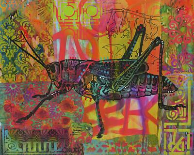 Grasshopper Wall Art - Painting - Grasshopper by Dean Russo Art
