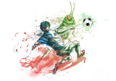 Barcelona Drawing - Grasshopper Fc by Tuan HollaBack