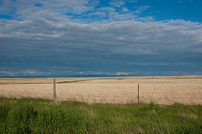Photograph - Grassland And Sky Layers by Cascade Colors