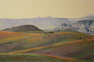 Grasslands Badlands Panel 2 Art Print