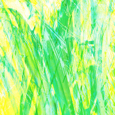 Painting - Grassy Abstract In Yellow Green Aqua White by Menega Sabidussi