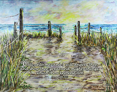Digital Art - Grassy Beach Post Morning 2 Jeremiah 33 by Janis Lee Colon